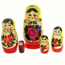 5 Poupées russes H11 Matriochka peint main Russian Nested Doll Gigognes Russie