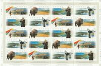 SCENIC HIGHWAYS = BISON = WHALE = OCEAN VF Full Sheet Canada 1999 #1780-1783 MNH