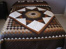 New Amish Handmade Quilt Patchwork from Lancaster Pa. Star in Common 103x116