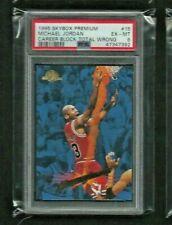 Michael Jordan '95-96 Skybox Premium ERROR #15 PSA 6 EX - MINT Block Total Wrong