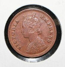 1898 India 1/2 Pice HIGH GRADE COIN - 04454