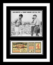 1923 JACK DEMPSEY vs TOMMY GIBBONS BOXING UNUSED TICKET DISPLAY