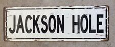 Jackson Hole Wyoming Mountain Resort Grand Tetons Ski Vintage St Sign Home Decor