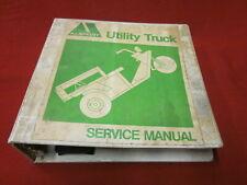 Alsport Tri-Sport Original Utility Truck Factory Service Manual Empty Binder