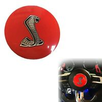 3D Red Cobra Car Auto Steering Wheel Center Sticker for New  Shelby 85mm