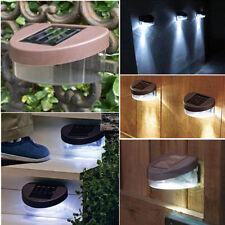 SOLAR POWERED DOOR / FENCE / WALL LIGHTS LED OUTDOOR GARDEN LIGHTING BRIGHT