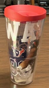 TERVIS JJ Watt Houston Texans 24 oz cup/tumbler -with red lid- NEW  RARE  HOF