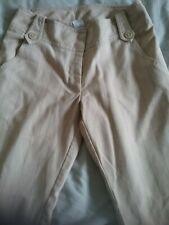 Vintage Beige Bootleg Smart  Trousers Size 8 NEW LOOK