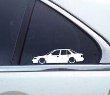 2X Lowered car outline JDM stickers - For Honda Accord CB3 JDM / CB Sedan