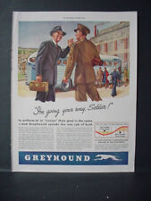 1943 Greyhound Bus Line Going your Way Soldier Vintage Print Ad 10914
