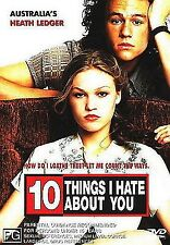 10 Things I Hate About You DVD, 2001 Heath Ledger, Julia Stiles