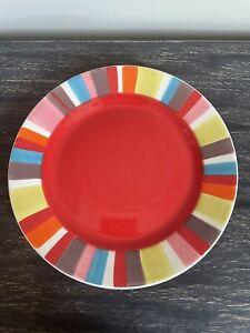 "Whittard Of Chelsea Red Stripe Plate 20.5cm /8"""