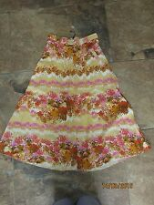 BNWT River Island Skirt Size 6 Maxi £30 Floral Yellow Pink Floaty Dress Up