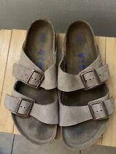 Men's Birkenstock Arizona Softbed Suede Sandals  size 10
