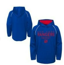 NHL Boy's Large New York Rangers Poly Embossed Hoodie Free Shipping