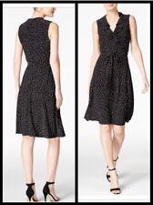 Tommy Hilfiger Womens Sheath Dress Size 8 Faux Wrap Ruffled Neckline Career