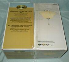 Hampton Bay Universal Ceiling Fan Light Kit or Flush Mount Amber Swirl Glass NEW