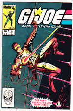 GI JOE #21 (1984, Marvel) The Silent Issue • 1st Appearance of Stormshadow