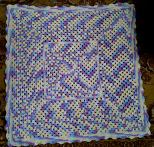 "Handmade Crochet Baby Granny Square Soft Afghan Blanket Multi Color 36"" x 36"""