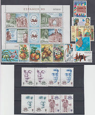 Spain famous people,folk costume,sport,flora-fruits,art,soldiers 90 stamps m/s