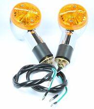 Amber Chrome Bullet Front Rear Turn Signal Blinker Indicator Light Honda