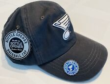 NEW NHL ST. LOUIS BLUES  ADULT ADJUSTABLE CAP HAT WITH BOTTLE OPENER *EXCLUSIVE*