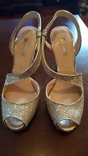 Women's Guess Stiletto Heels Size 8 M Silver/Gold Glitter New w/Box