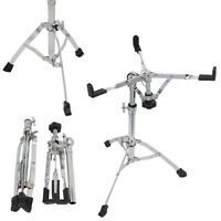 New Silver Snare Drum Stand - Heavy Duty Hardware Percussion