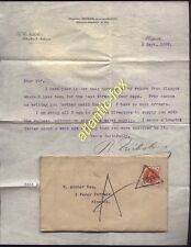 1899 MORPETH Telegraphic Code Cancel on ½d Vermilion, letters re ANCHOR TIN MINE