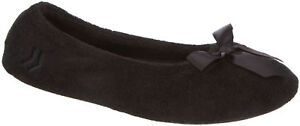 Isotoner Womens Terry Ballerina Slippers