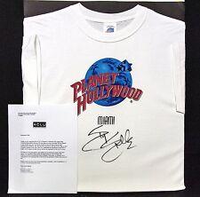 Sylvester Stallone Autografato Planet Hollywood Miami Maglietta