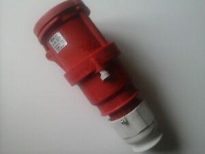 63amp 3-phase ( 5-pin ) IP67 socket/coupler.man..NEWLEC