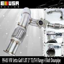 "3"" Turbo T3/T4 0r T3 4 bolt SS Downpipe Outlet elbow fit 99-05 VW Golf GTI 1.8T"