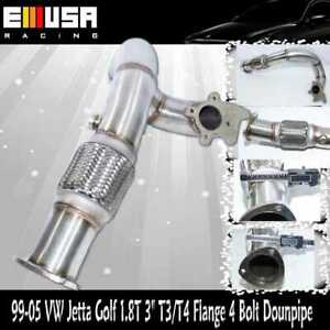 """3"""" Turbo T3/T4 0r T3 4 bolt SS Downpipe Outlet elbow fit 99-05 VW Golf GTI 1.8T"""
