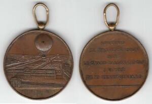 Expo di Parigi - Medaglia ricordo del pallone frenato di Henri Giffard - 1878