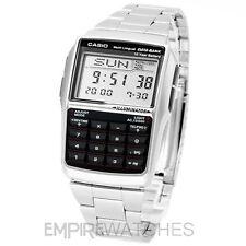 ** nuevo ** Casio Banco de datos Calculadora Retro De Acero Reloj-Dbc-32d-1a - RRP £ 55