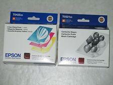 4 Genuine Epson T0425 CYM  & T0321 Black Color Ink Cartridges. Exp:2014. WOW!