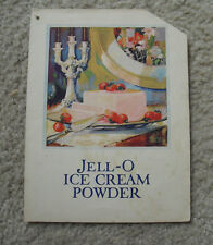 Vintage 1910s Jell-o Ice Cream Powder Recipe Booklet