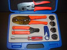 ATT 734/5 DS3/4 RG178 179 LMR-600,400,300,240,195 Coax RF Cable Crimper Tool Kit