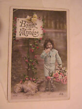 Bonnie Annee, Little Girl Iris 1930's Post Card (GS19-32)