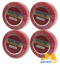Walker Tape Red Sensi-tak Roll 3/4 x 12 yds wigs, toupees, hairpieces - 4 Rolls