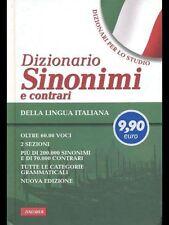 DIZIONARIO SINONIMI E CONTRARI LINGUA ITALIANA