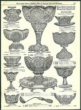 1912 ADVERTISEMENT 14 PG American Cut Glass Punch Set Water Jug Pitcher Napkin