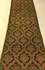 Beautiful Antique French Lyon Silk Lined Table Runner - 52� X 17�