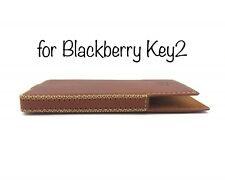 Blackberry Key2 Handmade Leather Case with built-in magnet