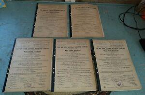 5 RARE Antique 1920s-30s Books New York Central Railroad Freight Tariff Estate