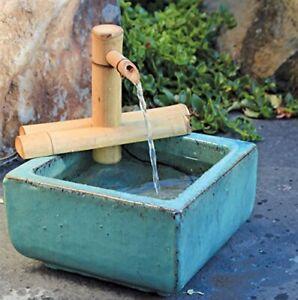 Zen Garden Water Fountain with Pump, Indoor/Outdoor, Adjustable 7-Inch Half