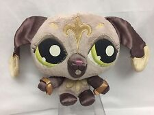 "LITTLEST PET SHOP Plush Brown Gold FLEUR De LIS 7"" SASSIEST DOG Stuffed Animal"