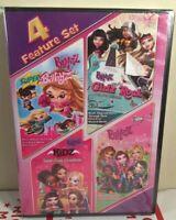 Bratz 4 Feature Set Brand New Dvd Kidz Super Babyz Girlz Rock Fashion Pixiez