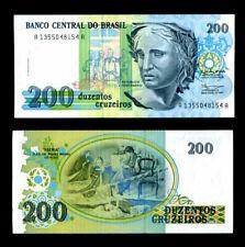 BRAZIL 200 CRUZEIRO P 229 UNC LOT 5 PCS